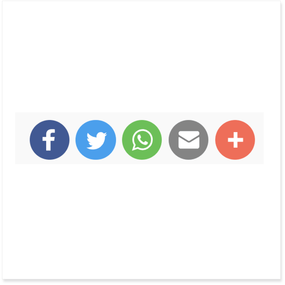 Social Media Share Buttons | Ordering Online System