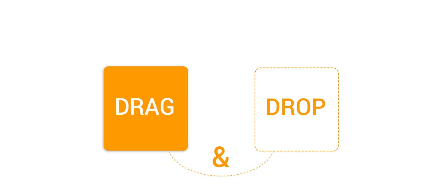 Drag-&-Drop-feature in Ordering Online System