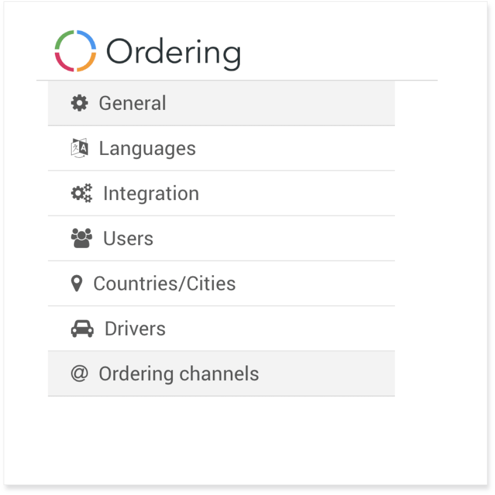 Ordering Editor - Online Store General Settings