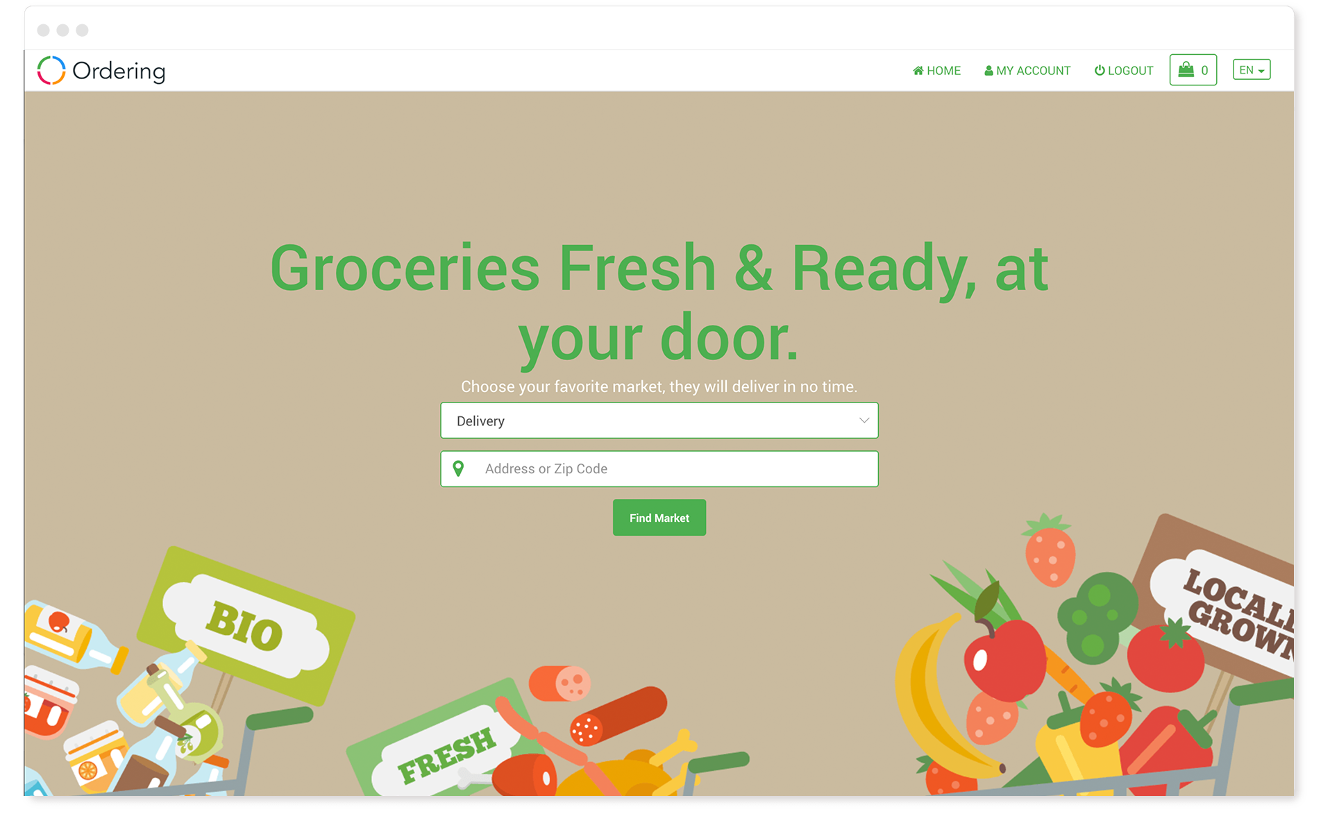Ordering Website - Groceries Vertical