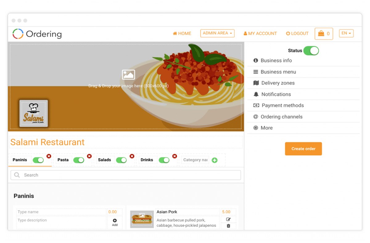 Online Ordering System - E-commerce solution for on-demand ordering
